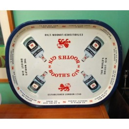 Vintage Booth's Gin Metal Tray