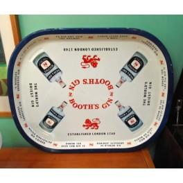 Παλαιός Μεταλικός Δίσκος Booth's Gin