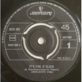Aphrodite's Child – It's Five O' Clock / Funky Mary (EP)
