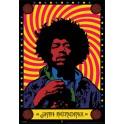 Jimmy Hendrix Psychedelic 3D Framed Poster