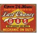 Last Chance Gas - Tin Sign