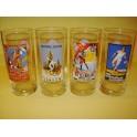 Set of 4 Coca-Cola Atlanta Olympics 1996 Glasses