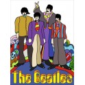The Beatles Illustrated Pop Art Tin Sign
