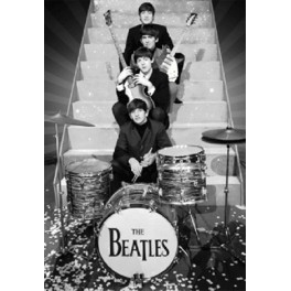 Beatles on Stage 3D Poster with Frame