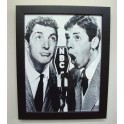 Dean Martin & Jerry Lewis at NBC Radio Framed Photo