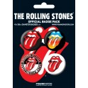 The Rolling Stones Official Button Badge Pack