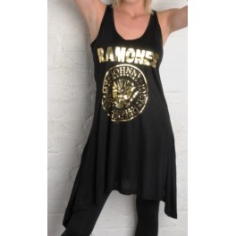 Ramones Women's Vintage Style Dress by Amplified (Black)